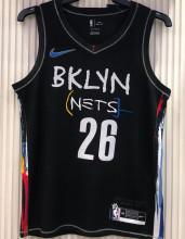 2021 Nets DINWDDIE#26 City Edition Black NBA Jerseys Hot Pressed