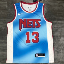 Nets Harden #13 Limited Edition Blue NBA Jerseys Hot Pressed