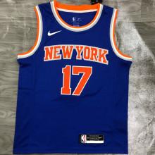 NY Knicks LIN # 17 Blue NBA Jerseys Hot Pressed