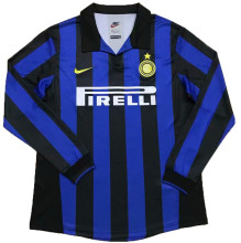 1998-1999 In Milan Home Long Sleeve Retro Soccer Jersey