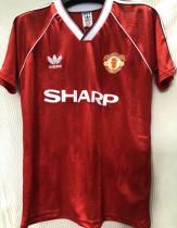 1988-1990 M Utd Home Red Retro Soccer Jersey