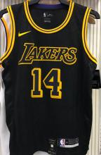 LA Lakers GREEN #14 Black Snake NBA Jerseys Hot Pressed