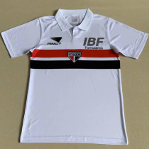 1991 SAO PAULO Home White Retro Soccer Jersey (NO Name Only Number)