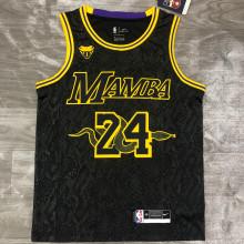 LA Lakers 大蛇款 Bryant #24 Black Snake NBA Jerseys Hot Pressed