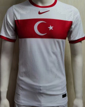 2021 Turkey Home White Player Soccer Jersey