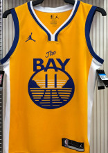 2021 Warriors Jordan THOMPSON #11 Golden NBA Jerseys Hot Pressed