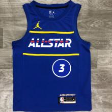 2021 ALL STAR BEAL # 3 JD Blue NBA Jerseys Hot Pressed