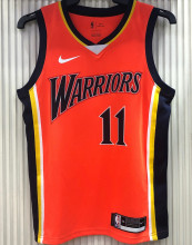Warriors THOMPSON #11 Orang NBA Jerseys Hot Pressed