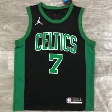 2021 Celtics Jordan BROWN #7 Green NBA Jerseys Hot Pressed