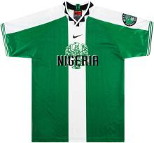 1996 Nigeria Home Green Retro Soccer Jersey