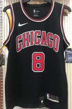 Bulls LAVINE #8 Black NBA Jerseys Hot Pressed