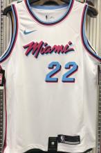 2021 Miami Heat BUTLER #22 White NBA Jerseys Hot Pressed