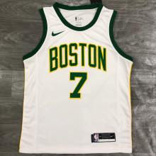 Celtics BROWN #7 White NBA Jerseys Hot Pressed