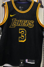 2021 LA Lakers DAVIS #3 Black Snake NBA Jerseys Hot Pressed