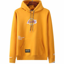 2021 Lakers Aape NBA Yellow Hoody