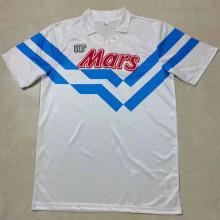 1988/89 Napoli Away White Retro Soccer Jersey