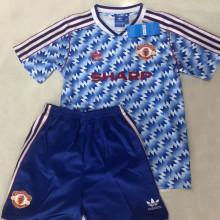1990/92 M Utd Away Retro Kids Soccer Jersey
