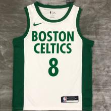 2021 Celtics WALKER #8 White NBA Jerseys Hot Pressed