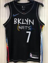2021 Nets DURANT#7 City Edition Black NBA Jerseys Hot Pressed
