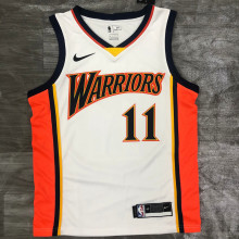 2021 Warriors THOMPSON #11 White NBA Jerseys Hot Pressed