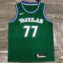 Mavericks Dončić # 77 Green NBA Jerseys Hot Pressed