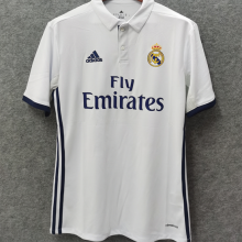 2016-2017 RM White Home Retro Soccer Jersey
