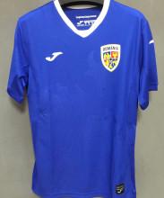 2021/22 Romania Away Blue Fans Soccer Jersey