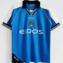1999/2001 Man City Home Blue Retro Soccer Jersey