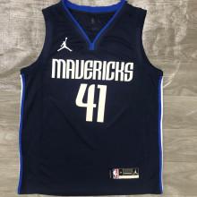 Mavericks Jordan NOWITZKI # 41 Royal Blue NBA Jerseys Hot Pressed