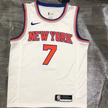 NY Knicks ANTHONY # 7 White NBA Jerseys Hot Pressed