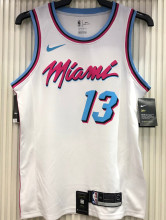 2021 Miami Heat ADEBAYO #13 White NBA Jerseys Hot Pressed