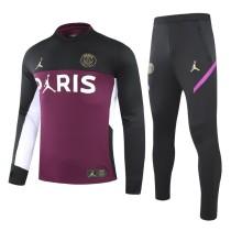 2020/21 PSG JD Black Purple Sweater Tracksuit