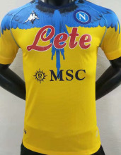 2021 Napoli Marcelo Burlon Limited Edition Yellow Player Soccer Jersey