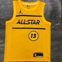 2021 ALL STAR GEORGE # 13 JD Yellow NBA Jerseys Hot Pressed