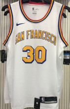 Warriors Francisco CURRY #30 White NBA Jerseys Hot Pressed