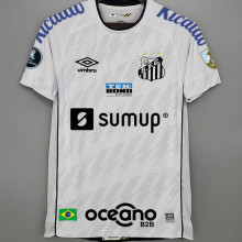 2021/22 Santos 1:1 Home White Fans Jersey有解放者3臂章 (Have Libertadores 3 Patch+ALL AD)