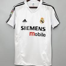 2004-2005 RM White Home Retro Soccer Jersey