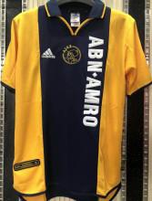 2000/01 Ajax Away Yellow Retro Soccer Jersey