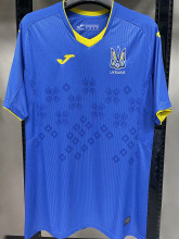 2021/22 Ukraine 1:1 Quality Away Blue Fans Soccer Jersey