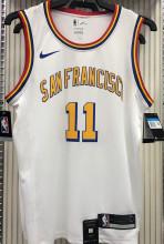 Warriors Francisco THOMPSON #11 White NBA Jerseys Hot Pressed