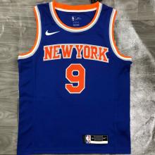 NY Knicks BARRETT # 9 Blue NBA Jerseys Hot Pressed