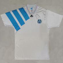 1992/93 Marseille Home White Retro Soccer Jersey
