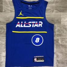 2021 ALL STAR LAVINE # 8 JD Blue NBA Jerseys Hot Pressed