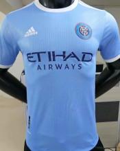 2021 NY City Blue Player Version Soccer Jersey