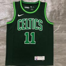 2021 Celtics IRVING #11 EARNED Edition Green NBA Jerseys Hot Pressed