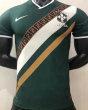 2021 Brazil Green Player Version Training Jersey