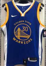 2021 Warriors CURRY #30 V-Neck Blue NBA Jerseys Hot Pressed