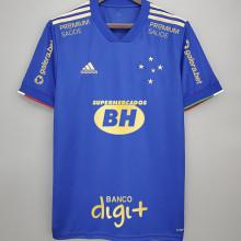 2021/22 Cruzeiro 100 ANOS Blue Fans Soccer Jersey(All AD全广告)