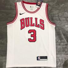 Bulls WADE #3 White NBA Jerseys Hot Pressed