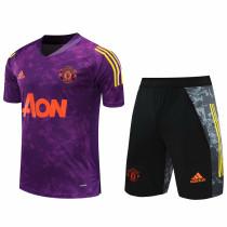 2020/21 M Utd Purple Short Training Jersey(A Set)
